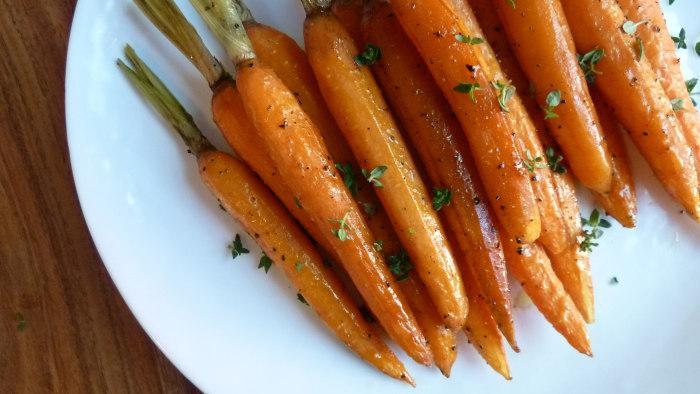 Balsamic-Honey Roasted Carrots recipe