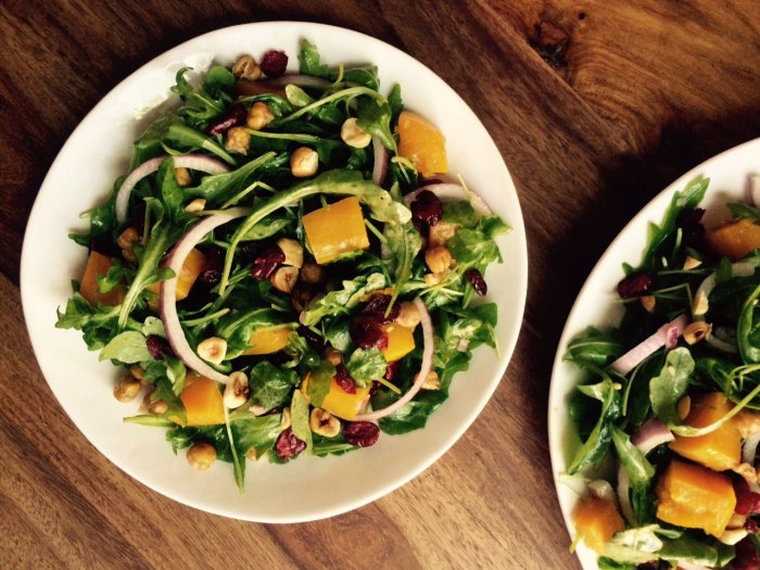 Butternut squash and arugula salad recipe