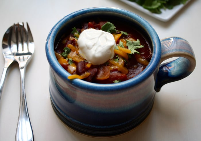 Slow-Cooker Beef and Beer Chili recipe