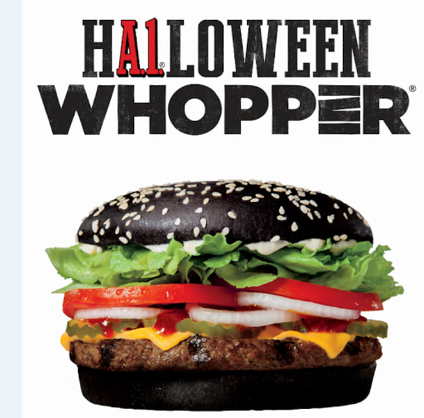 Burger King unleashes black Halloween Whopper—and it's ...
