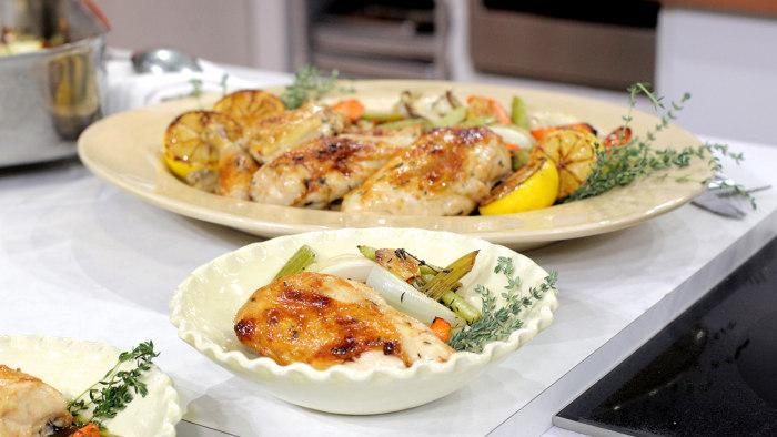 "Chef Amanda Freitag makes ""Lusty"" Lemon Chicken on TODAY, September 29, 2015."