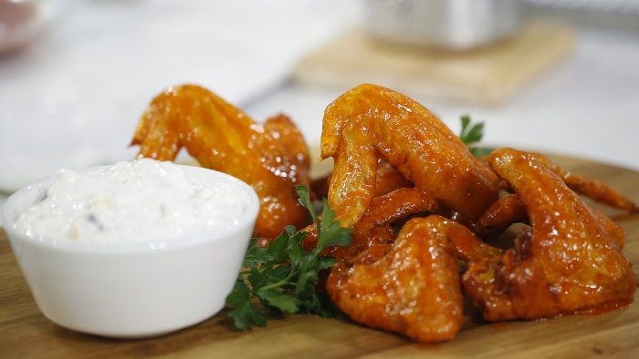 Buffalo chicken Wings by Martha Stewart.