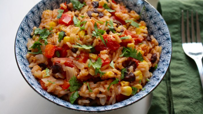 One pot mexican rice with black beans and corn today one pot mexican rice and beans recipe forumfinder Images
