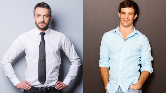 Should men wear tucked or untucked shirts to the office for No tuck shirts mens