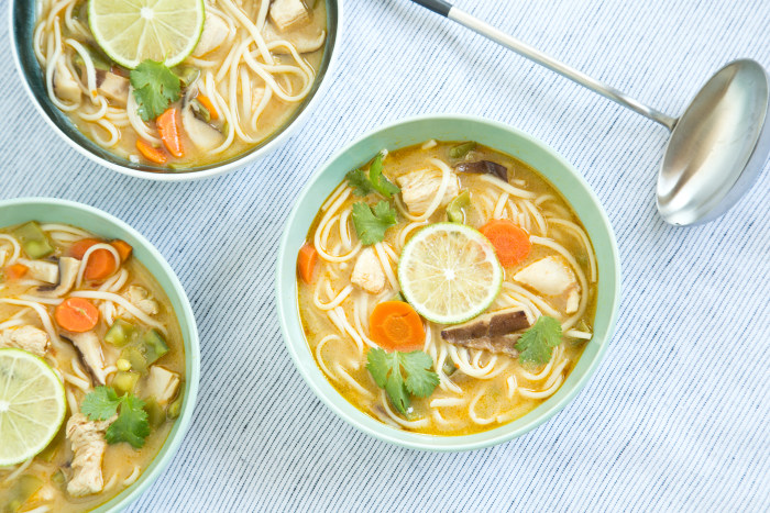 Make this Thai-inspired coconut curry noodle soup with ...