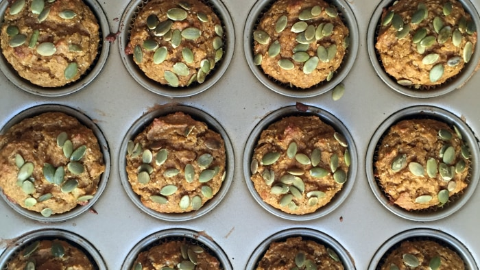 Healthy Pumpkin Spice Muffins recipe