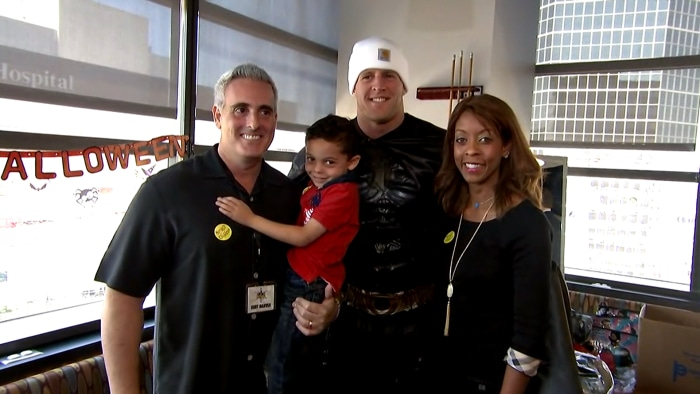 J.J. Watt is Batman! Texans star surprises children's hospital in character on TODAY