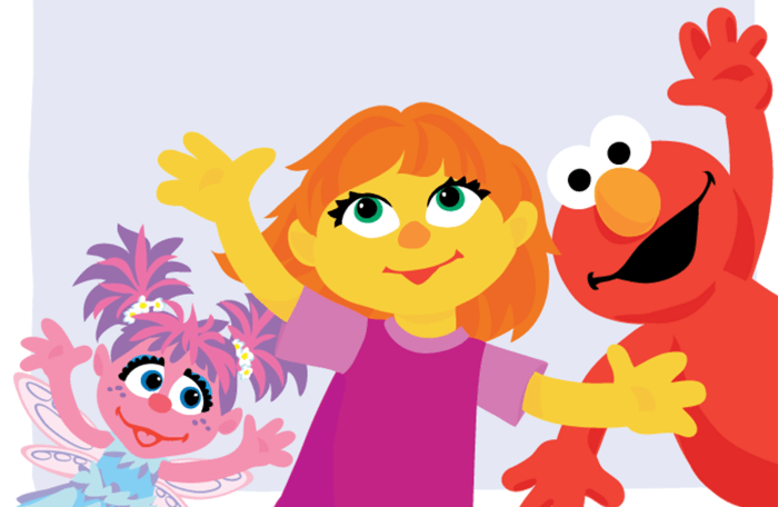 Julia, new Sesame Street character with autism.