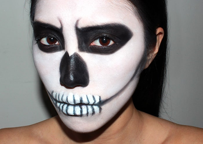 Last minute Halloween makeup ideas you can create on a - Skeleton Halloween Makeup