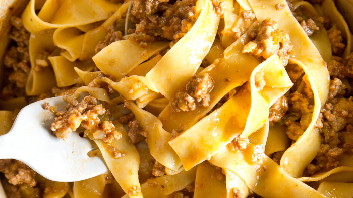Light Bolognese sauce
