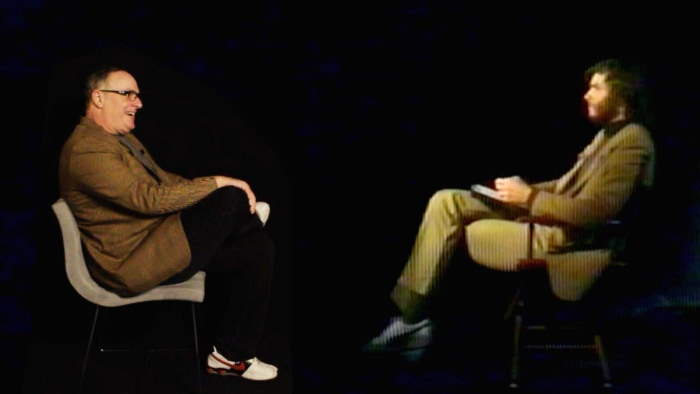 Peter Emshwiller Man gets interviewed by his teen self in trippy video Watch it