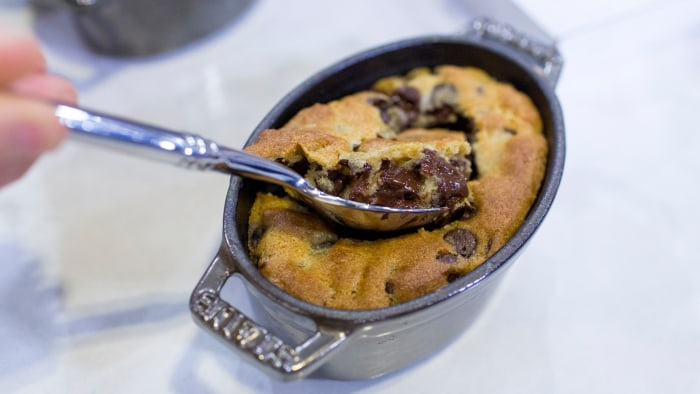 Nigella Lawson's recipes for chocolate chip cookie dough pots and Nutella brownies