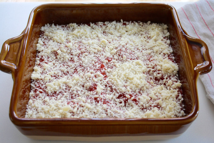 Pizza Dip: layer of grated Parmesan