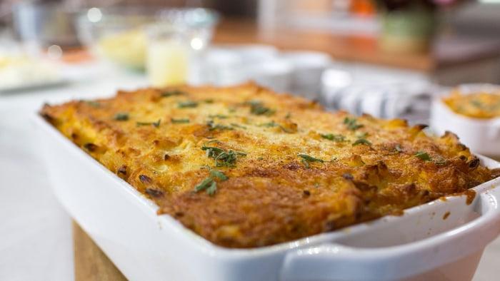 Nigella Lawson's recipe for sweet potato mac and cheese