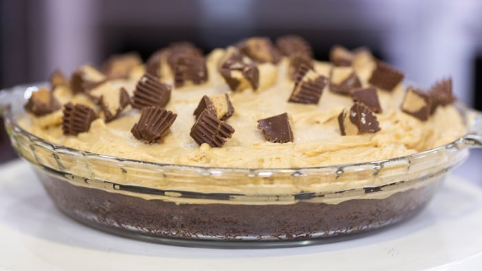 Brownie Bottom Peanut Butter Pie