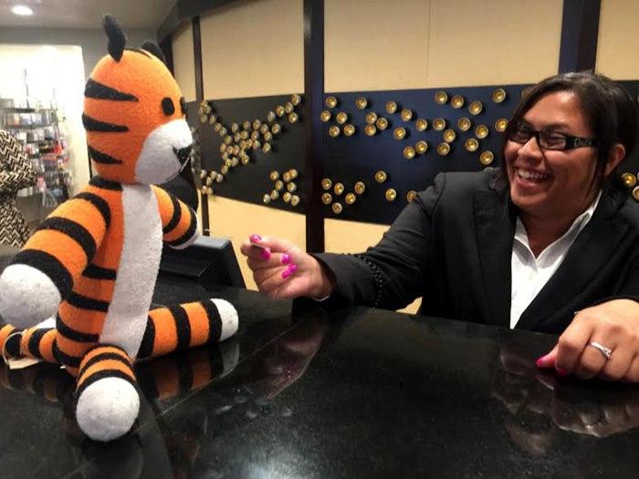 Boy tiger airport random act kindness