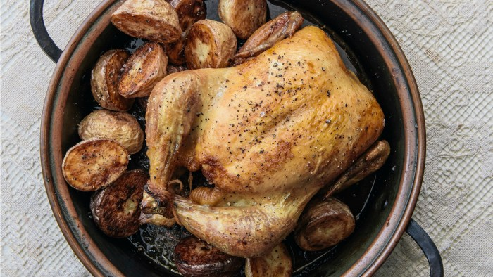 Curtis Stone's recipe for simple roast chicken with potatoes
