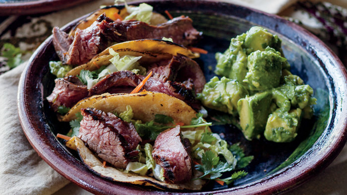 Curtis Stone and Lindsay Price's recipe for bulgogi steak tacos
