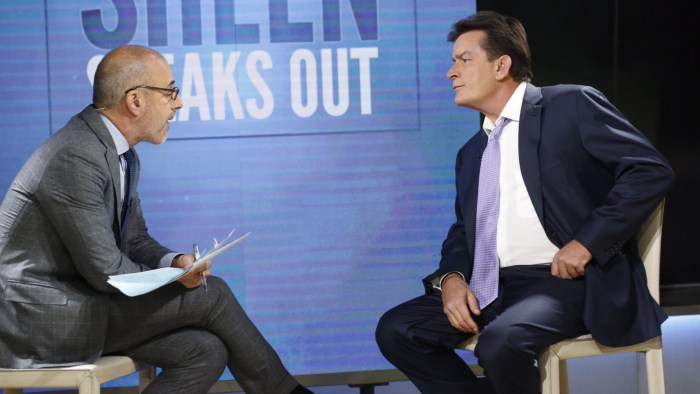 Matt Lauer and Charlie Sheen
