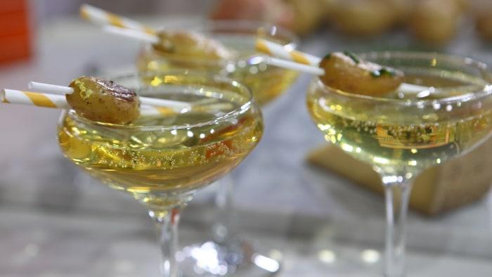 Vodka potato cocktail.