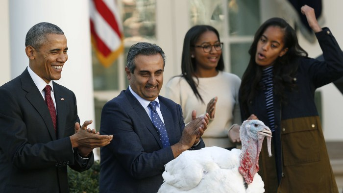 Image: U.S. President Obama performs 68th annual pardoning of Thanksgiving turkey Abe at White House in Washington
