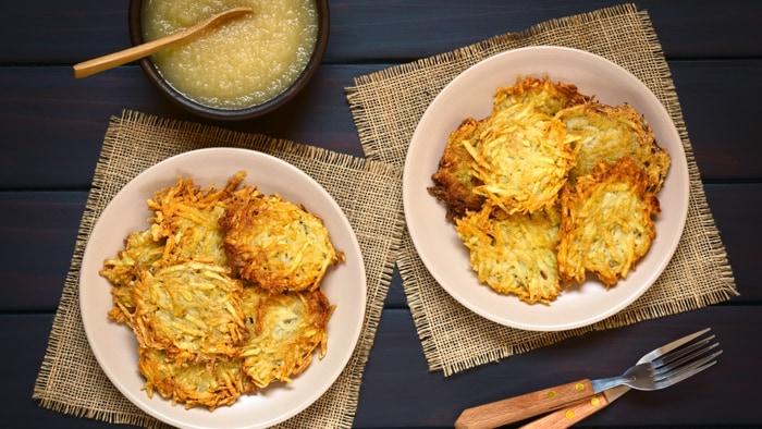 Hanukkah potato pancakes (latkes)