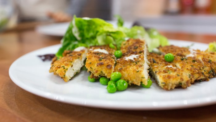 Donal Skehan cooks up a chicken schnitzel and caesar salad