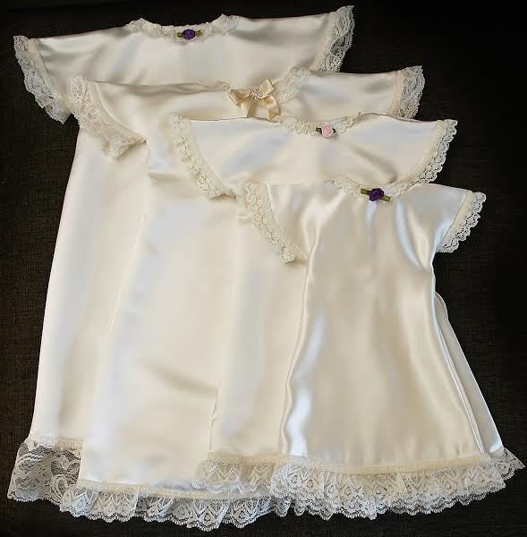 Woman 39 S Company Crafts Baby Burial Gowns Out Of Wedding
