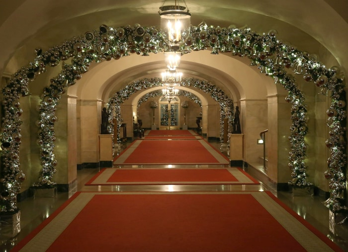 The White House Decks Halls For Holidays Take A