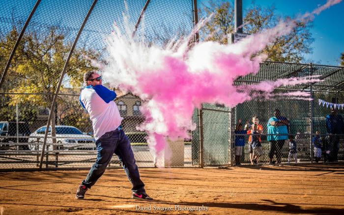 couple celebrates life in home run of a baby announcement