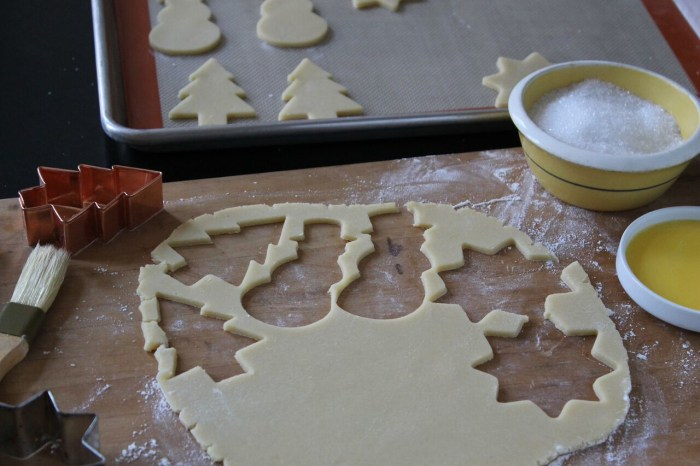 How to Make Sugar Cookies: Stamp out as many cookies as possible from the dough