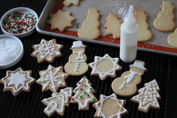 How to Decorate Sugar Cookies: Transfer the white glaze to glaze to a piping bag or squeeze bottle with a tiny tip and pipe designs all over the cookies