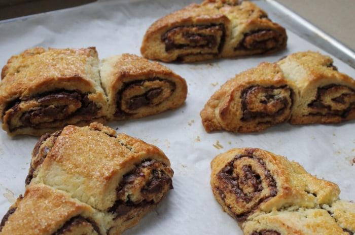 Nutella-Swirl Scones