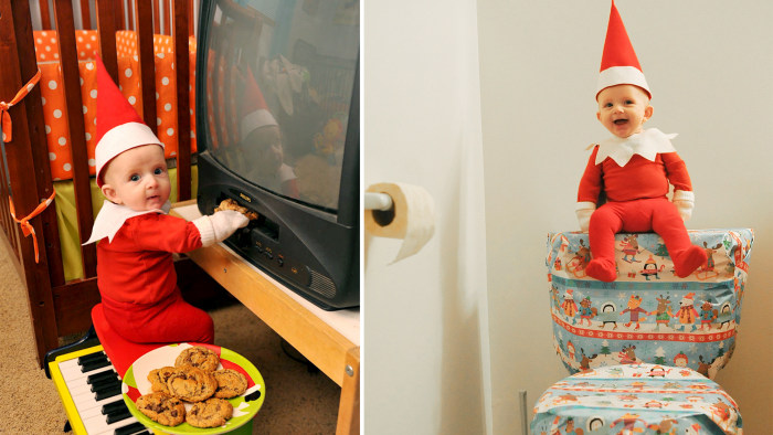 Dad Turns His 4 Month Old Son Into An Adorable Elf On The