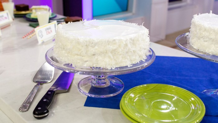 Duff Goldman's recipe for coconut masrhmallow meringue cake