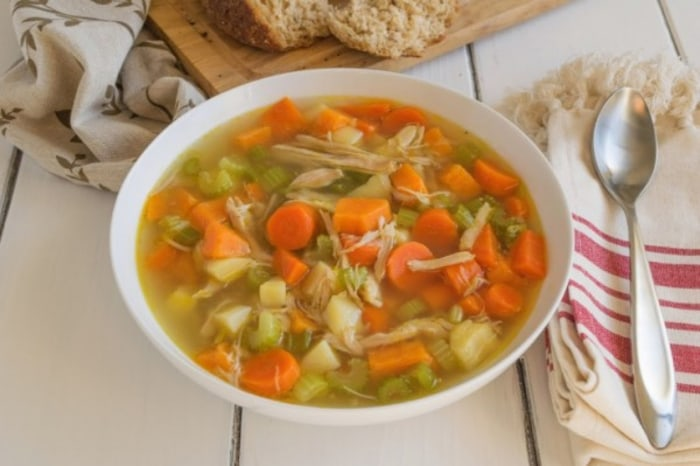 Chicken soup recipe by TODAY Food Club member Janette Fuschi
