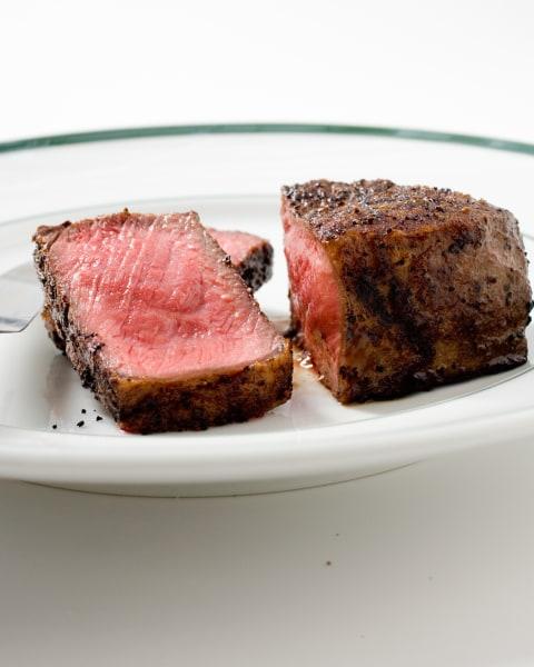 Pan Seared Thick Cut Strip Steaks America S Test Kitchen