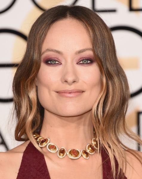 Olivia Wilde golden globes 2016 makeup