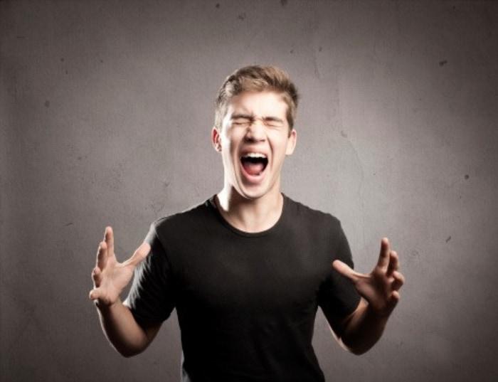 Teenager yelling