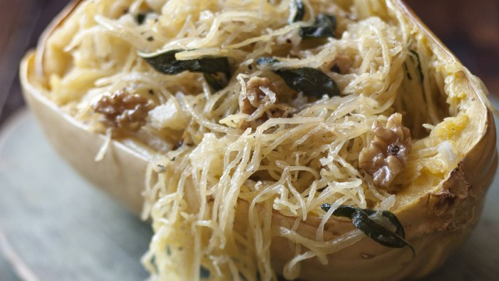 Spaghetti Squash with Sage and Walnuts