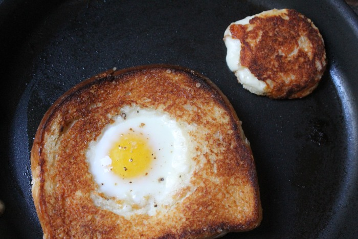 Grilled Cheese Egg-in-a-Hole: Broil until the top is browned and the egg whites are just set, but the yolk is still runny