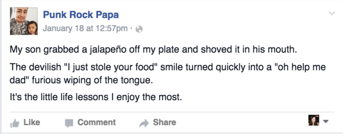 11 funniest parenting posts on Facebook this week Punkrockpapa_5959664e8e6f9e7a67a55ffee98703e6.today-inline-large