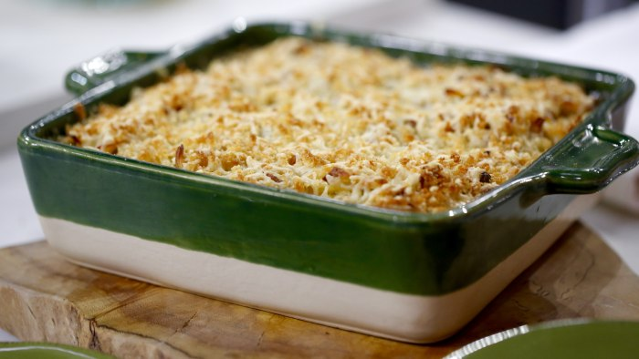 Food Network star Kelsey Nixon makes a tuna noodle casserole
