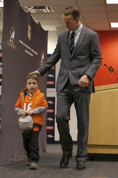 Peyton Manning's 4-year-old son makes adorably shy ...