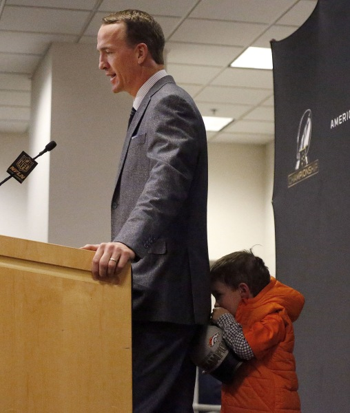Peyton Manning's 4-year-old Son Makes Adorably Shy