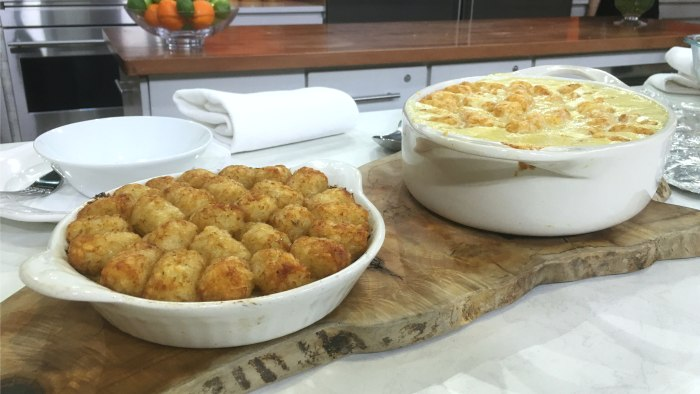 Ryan Scott makes his cheesy chicken tater tot casserole
