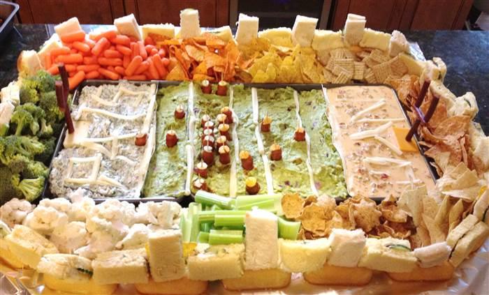 Epic Super Bowl 'snack stadium' inspiration