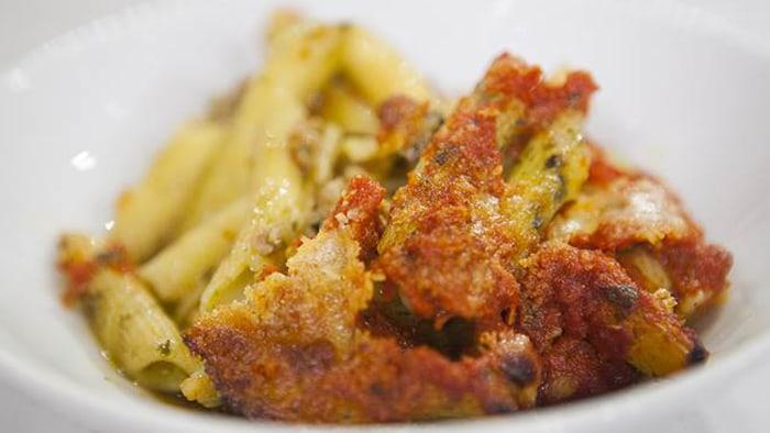 Giada De Laurentiis baked pesto pasta casserole
