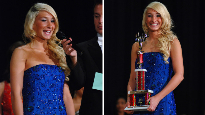 Ashton, age 17, at the Miss Teen Columbus Pageant 2008.