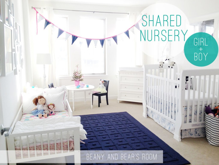 Shared kids room ideas from pinterest for Boy girl bedroom ideas shared